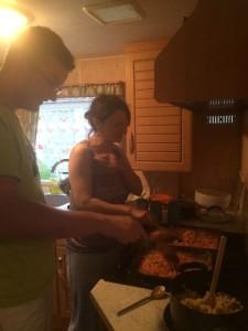 Cooking in Caravan